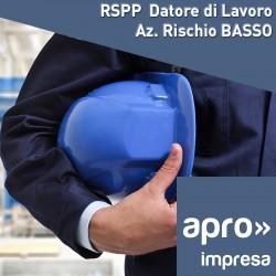 RSPP Datore di Lavoro rischio basso